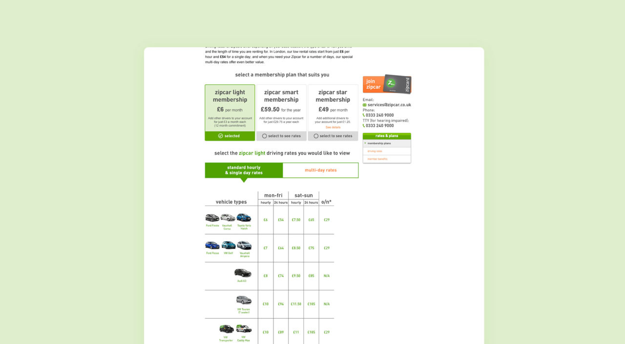 Cancel Zipcar Membership >> Zipcar Ui And Ux Design Stuart J Williams